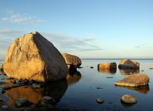 Côte de mer baltique en Estonie. Photos stock