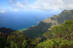 Côte de Na Pali, Kauai Photo stock