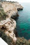 Côte de portimao du Portugal photo libre de droits