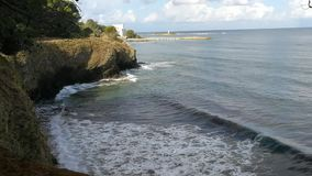 Côte de Punta Licosa banque de vidéos