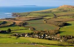 Côte de Smedmore, Dorset, R-U Photo stock