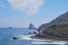 Côte de Tenerife d'Anaga Images stock