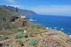 Côte de Tenerife d'Anaga Photo stock