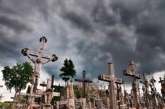 Côte des croix, Lithuanie Photos libres de droits