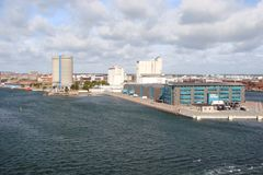 Côte du Danemark de la mer baltique près de la ville de Copenhague images stock