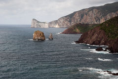 Côte du sud-ouest de la Sardaigne Image libre de droits