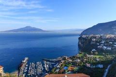 Côte du Vésuve et d'Amalfi Photo stock
