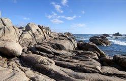 Côte en pierre d'océan Images libres de droits
