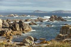 Côte en pierre d'océan Photographie stock