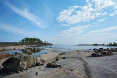 Côte en pierre de Ladoga Photos libres de droits
