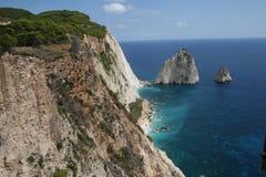 Côte grecque des montagnes Image stock