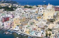 Côte italienne, procida, Naples Photo libre de droits