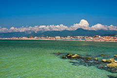 Côte méditerranéenne de Viareggio Photo libre de droits
