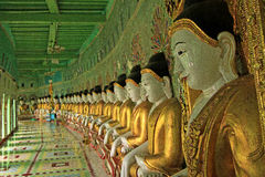 Côte Mandalay de Sagaing d'imagies de Bouddha @ Image libre de droits