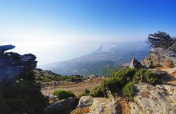Côte orientale de la Corse supérieure Images libres de droits