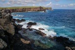 Côte parc national d'Espanola d'île, Galapagos, Equateur Image libre de droits