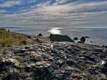 Côte rocheuse Estonie image libre de droits