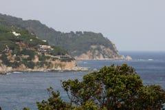 Côte rocheuse Lloret de Mar, Espagne Photographie stock libre de droits