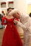 Côte rouge - Assemblée de noblesse de Moscou de bille de source Images stock