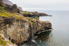 Côte sauvage sur l'île de disco, Groenland Photo libre de droits