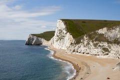 Côte sud de l'Angleterre près de la trappe de Durdle Photo libre de droits