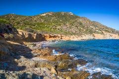 Côte sud renversante de la Sardaigne, Italie Images libres de droits
