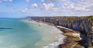 Côte supérieure de la Normandie Images libres de droits