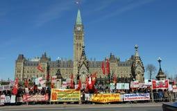 Côte Tamoule Ottawa du Parlement de démonstration Photos stock