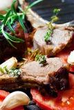 Côtelette d'agneau rôtie Images stock