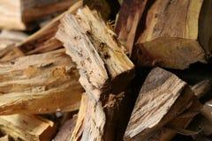 Côtelette de bois de chauffage Photographie stock libre de droits