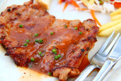 Côtelette de porc Photographie stock
