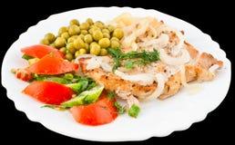 Côtelette de porc avec des légumes Photographie stock