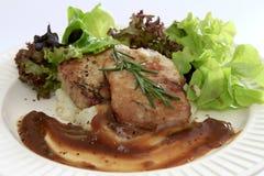 Côtelette grillée de porc Photographie stock