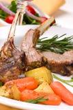 Côtelettes d'agneau photo stock