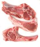 Côtelettes d'agneau crues image stock