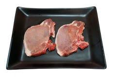 Côtelettes de porc. Image libre de droits