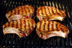 Côtelettes de porc de barbecue image libre de droits