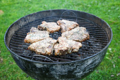 Côtelettes de veau sur le gril Image stock