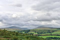 Côtes de Cheviot, le Northumberland, Angleterre, R-U photographie stock