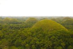 Côtes de chocolat dans Bohol Philippines Images libres de droits