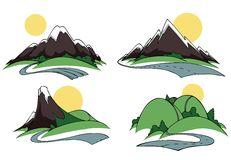 Côtes et montagnes illustration libre de droits