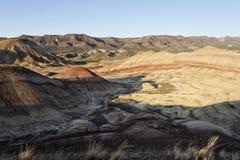 Côtes peintes - une formation élevée d'horizontal de désert Photo libre de droits