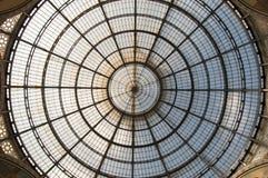 Cúpula da galeria Vittorio Emanuele II em Milão, Itlay Foto de Stock Royalty Free