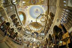 Cúpula de St naval Nicholas Cathedral em Kronstadt Fotografia de Stock