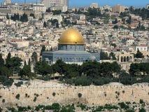 Cúpula do ouro da mesquita de Omar Fotos de Stock