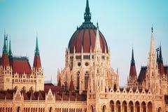 Cúpula do parlamento em Budapest, Hungria Imagens de Stock