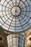 Cúpula do shopping Vittorio Emanuele II em Milão, Itlay Fotografia de Stock Royalty Free