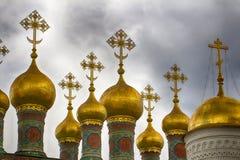 Cúpula superior da abóbada da catedral de Saviour's Verkhospassky no MOS Imagem de Stock
