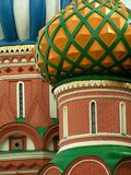 Cúpulas de las albahacas del santo, Moscú, Rusia Fotografía de archivo
