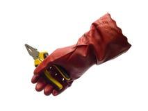 Cążki i rękawiczka obraz stock